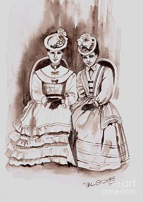 Young Ladies Of A Bygone Age Original