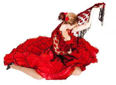 Photograph - Young Lady In Hispanic Red Dress 10 by Vlad Baciu