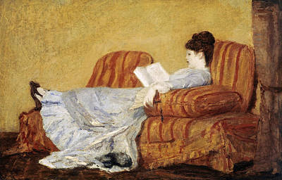 Painting - Young Lady Reading by Celestial Images