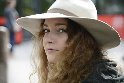 Photograph - Young Lady With White Hat 1 by Teo SITCHET-KANDA
