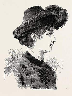 Young Ladys Hat, Fashion Art Print by English School