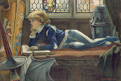 Pensive Drawing - Young Lancelot by H. Randolph Rose