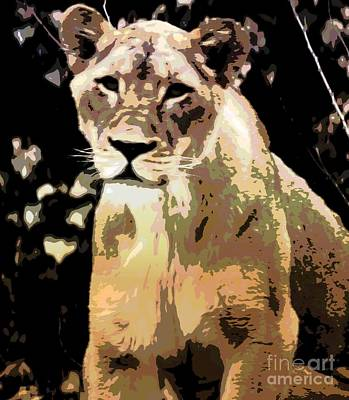 Young Lion Art Print by Kathleen Struckle