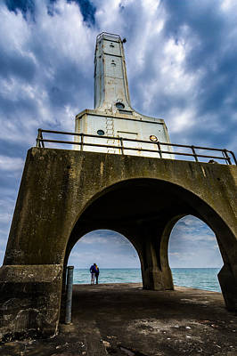 Photograph - Young Love At The Lighthouse by Randy Scherkenbach
