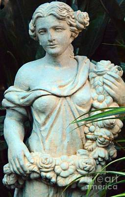 Young Maiden Statue Art Print by Kathleen Struckle