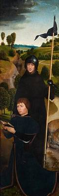 With Prayer Painting - Young Man At Prayer With St. William Of Maleval by Hans Memling