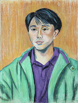 Painting - Young Man In A Green Jacket by Asha Carolyn Young