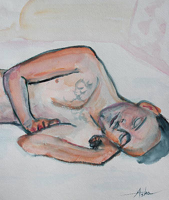 Painting - Young Man Sleeping by Asha Carolyn Young