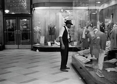 Photograph - Young Man Window Shopping by John Vachon