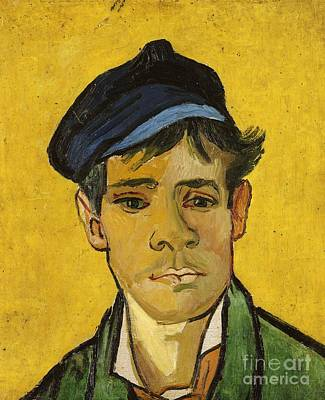 Young Man With A Hat Art Print by Vincent Van Gogh