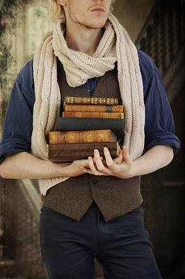 Photograph - Young Man With Books by Ethiriel  Photography