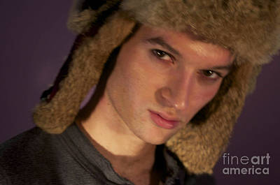 Young Man With Fur Hat Original