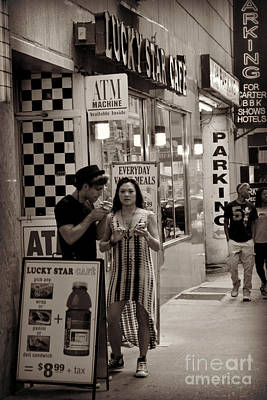 Photograph - Young Man With Hat And Cigarette - Times Square - New York by Miriam Danar