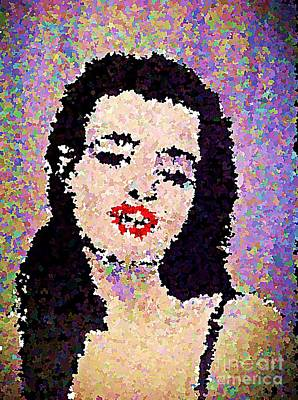 Painting - Young Marilyn Monroe Impressionistic  by Saundra Myles