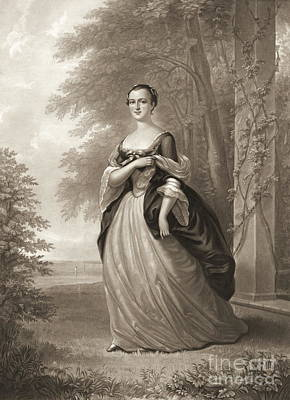 Young Martha Washington 1863 Art Print by Padre Art