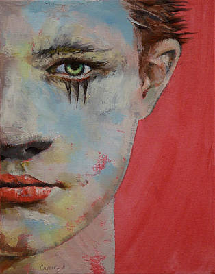 Lowbrow Painting - Young Mercury by Michael Creese
