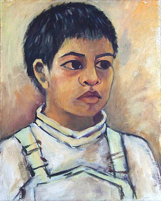 Painting - Young Mexican Boy by Susan Santiago