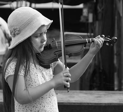 Photograph - Young Musician by Inge Riis McDonald