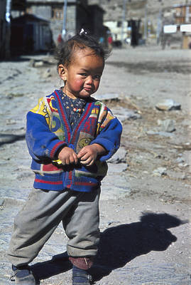 Photograph - Young Nepalese Girl In Manang by Richard Berry