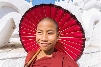 Burma Photograph - Young Novice Monk - Burma by Matteo Colombo