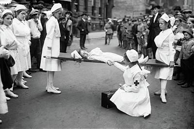 Photograph - Young Nurses, C1916 by Granger
