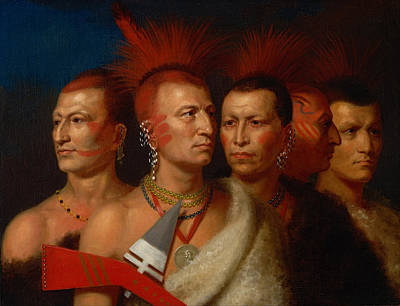 American Eagle Painting - Young Omahaw War Eagle Little Missouri And Pawnees by Charles Bird King