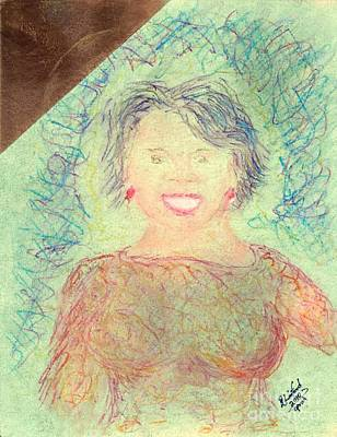 Young Oprah At The Opera 1 Pop Natural Art Print by Richard W Linford