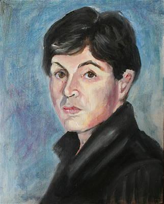 Young  Paul Mccartney Art Print by Melinda Saminski