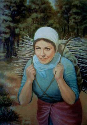 Art Print featuring the painting Young Farmer by Laila Awad Jamaleldin