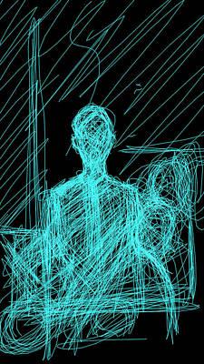 Digital Art - Young Poet In Black by Khaya Bukula