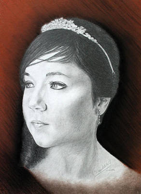 Drawing - Young Princess Finished by Miguel Rodriguez