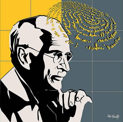 Freud Digital Art - Psychiatrist Carl Gustav Jung by Roby Marelly