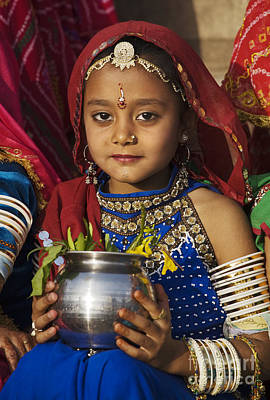 Hindu Goddess Photograph - Young Rajathani At Mewar Festival - Udaipur India by Craig Lovell