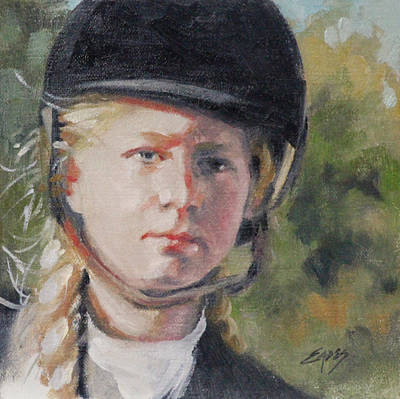 Painting - Young Rider by Linda Eades Blackburn