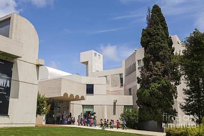 Miro Photograph - Young School Children Leaving The Fundacio Joan Miro Foundation  by Peter Noyce