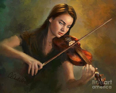 Painting - Young Soloist by Andrea Auletta