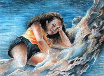 Painting - Young Tahitian Mermaid by Miki De Goodaboom