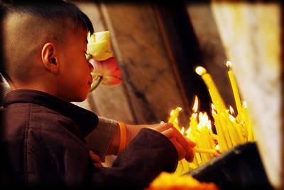 Photograph - Young Thai In Prayer by Selke Boris
