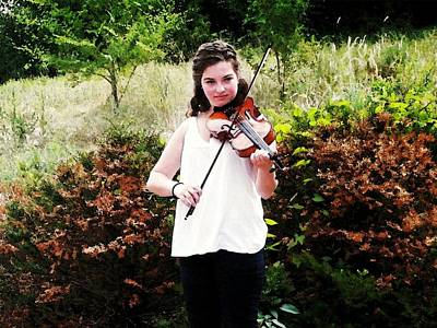 Women Photograph - Young Violinist by Zinvolle Art