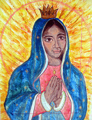 Painting - Young Virgin Of Guadalupe by Sarah Hornsby
