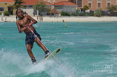 Wakeboarder Photograph - Young Wakeboarder by DejaVu Designs