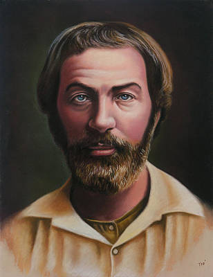 Wall Art - Pastel - Young Walt Whitman by Miguel Tio