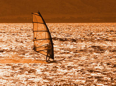 Photograph - Young Windsurfer In The Afternoon by John Orsbun
