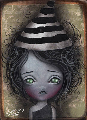 Pop Surrealism Painting - Young Witch  by  Abril Andrade Griffith