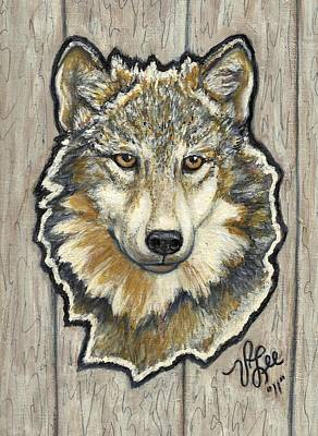 Painting - Young Wolf by VLee Watson