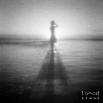 Pinhole Photograph - Young Woman By Pool At Sunrise by Colin and Linda McKie
