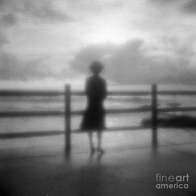 Young Woman By Sea Early Morning Art Print by Colin and Linda McKie