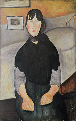 Photograph - Young Woman Of The People Oil On Canvas by Amedeo Modigliani