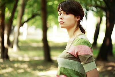 Young Woman Portait Art Print by Anna Bryukhanova