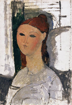 Painting - Young Woman, Seated, C.1915 by Amedeo Modigliani